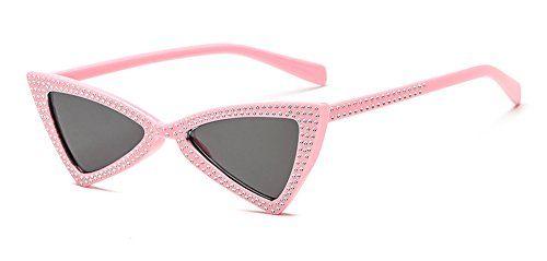 c3fa459f61d4 Maziort Clout Goggles Small Cat Eye Sunglasses Bold Retro Mod Diamond-set  Triangle Eyewear