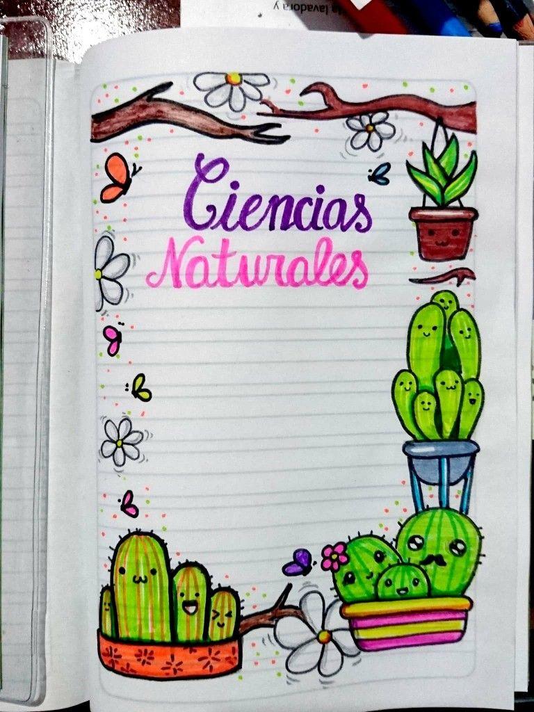 Cuaderno De Ciencias Naturales Kawaii Portada De Cuaderno De Ciencias Portada De Cuaderno De Dibujos Cuadernos De Dibujo