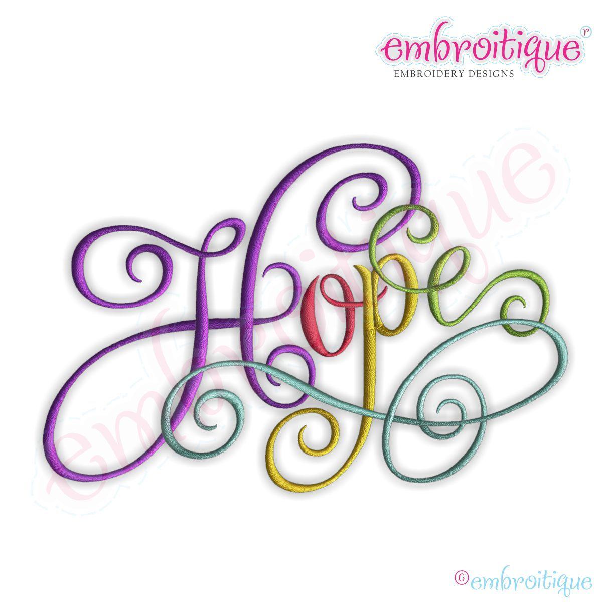 Applique Corner Applique Design, embroidery font One Hope ...