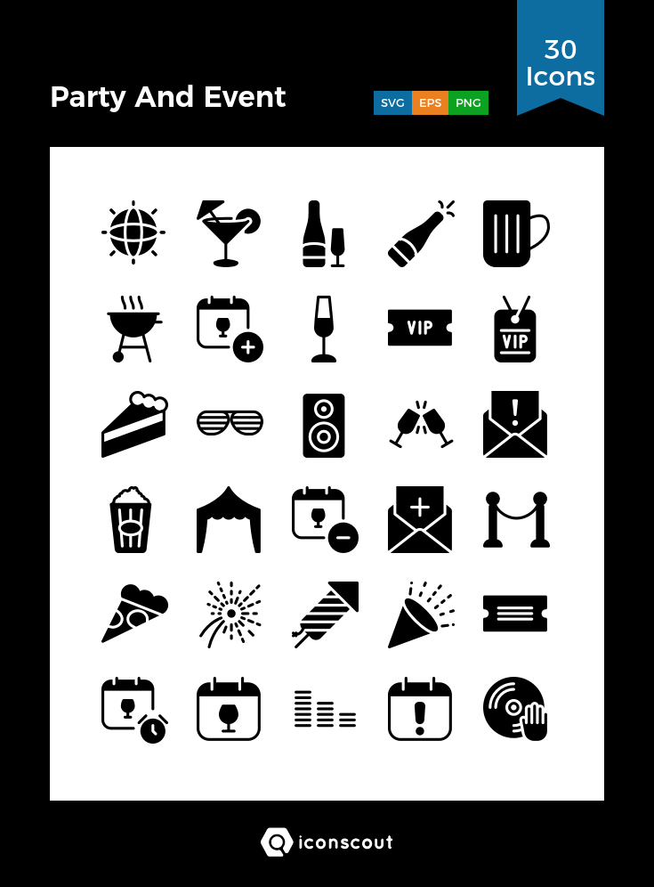 Download Party And Event Icon Pack Available In Svg Png Eps Ai Icon Fonts Icons Party Icon Pack Icon