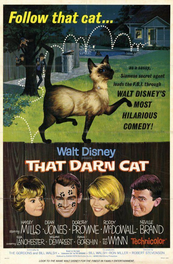USA NEW Dean Jones That Darn Cat Movie POSTER 11 x 17 Hayley Mills A