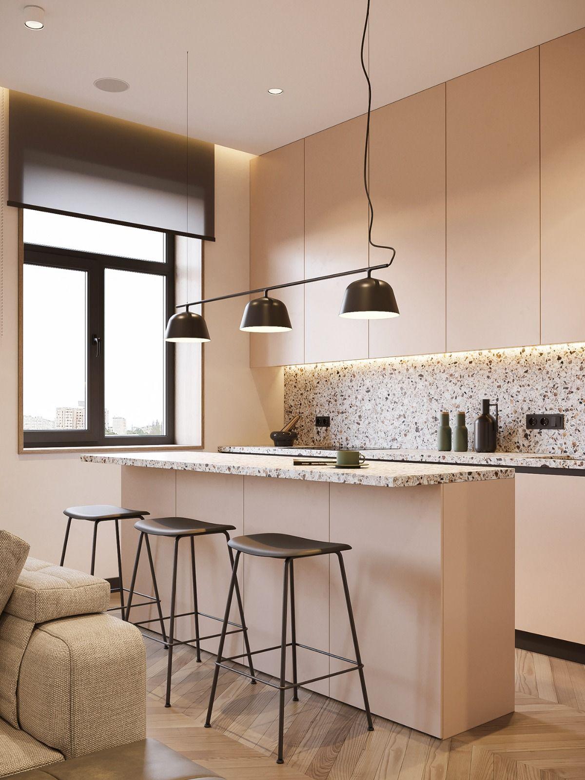 Terrazzo Platten Fur Jeden Wohnbereich Praktische Verwendung Des Materials In Der Innenarchitektur Interior Design Design Cucina Moderna