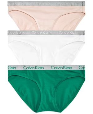 84e9e56048a Calvin Klein Radiant Cotton Bikini 3-Pack QD3589 - Pinnacle Black ...