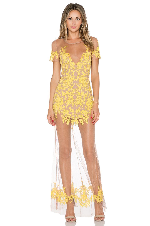 389733f10cac7 For Love & Lemons Luau Maxi Dress in Primrose & Nude in XS ...