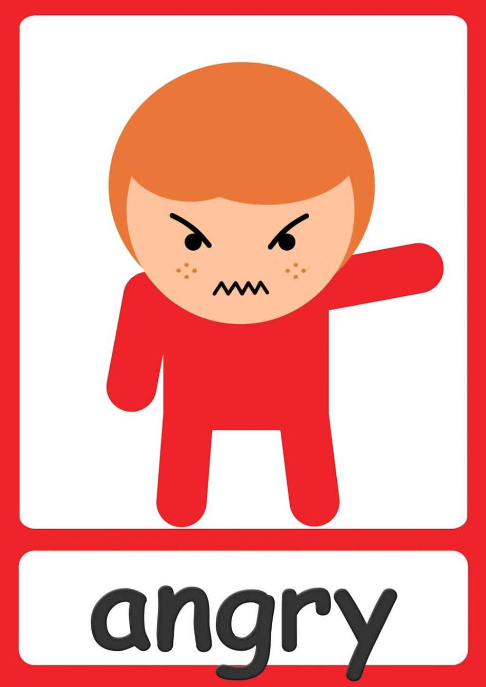 Free Feelings Flashcards Kindergarten & Preschool