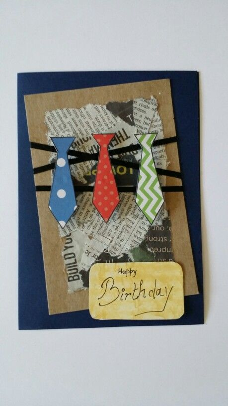 Handmade Fathers day card Birthday Card Brother Husband Uncle Suit Card