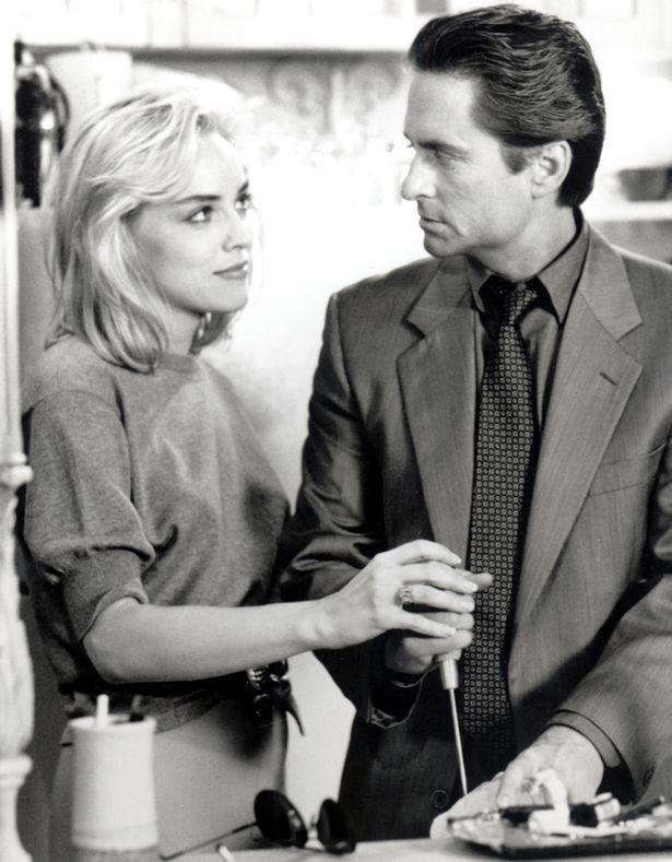 Sharon Stone and Michael Douglas in Basic Instinct