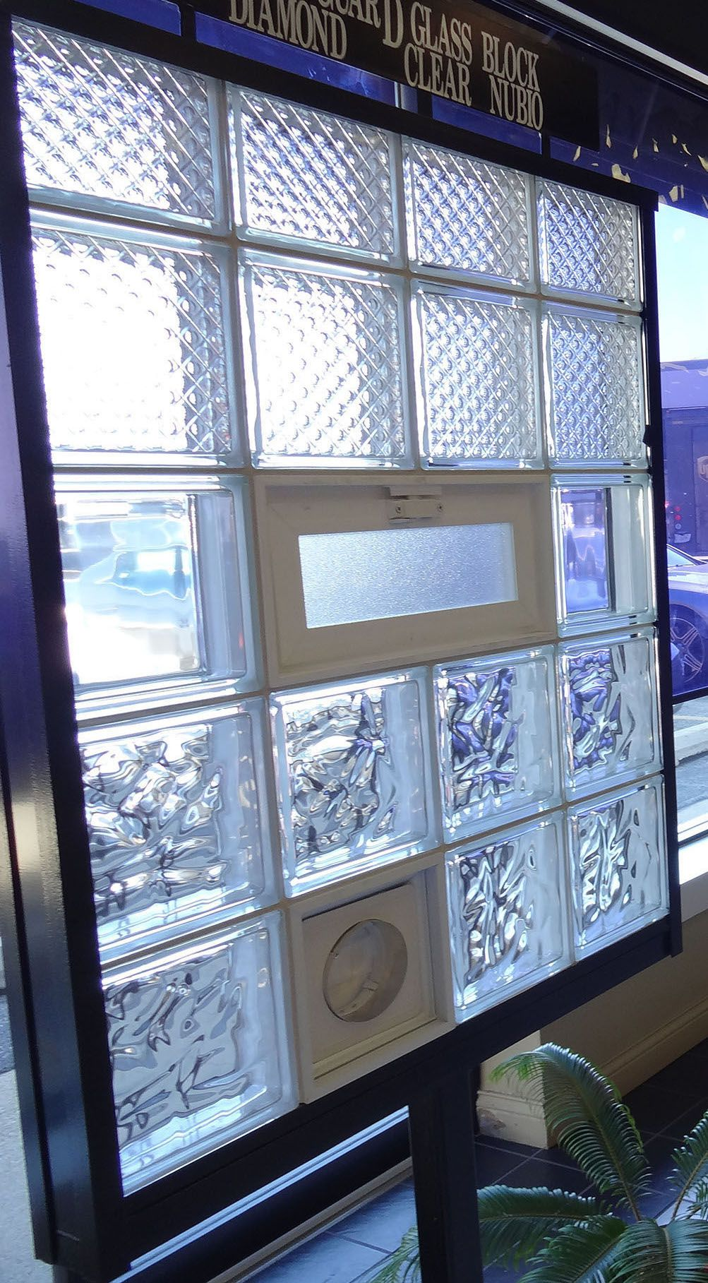 We Can Create Glass Block Windows With Air Vents Any Size Perfect For Basements Or Lower Level Rooms Ge Glass Block Windows Windows And Doors Glass Blocks