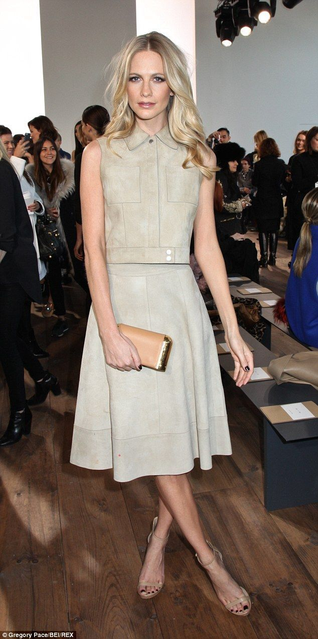 Poppy Delevingne's Neutral Chic at Michael Kors show.