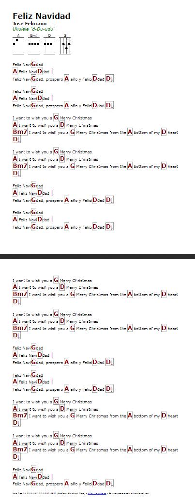 Feliz Navidad (Jose Feliciano) - http://myuke.ca | ukulele ...