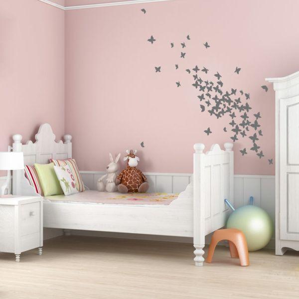 Lovely Altrosa Wandfarbe Kinderzimmer Weiße Eimrichtung