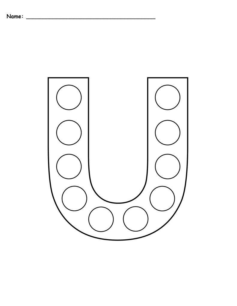 Letter U Do A Dot Printables Uppercase Lowercase Do A Dot Uppercase And Lowercase Lowercase A [ 1024 x 791 Pixel ]