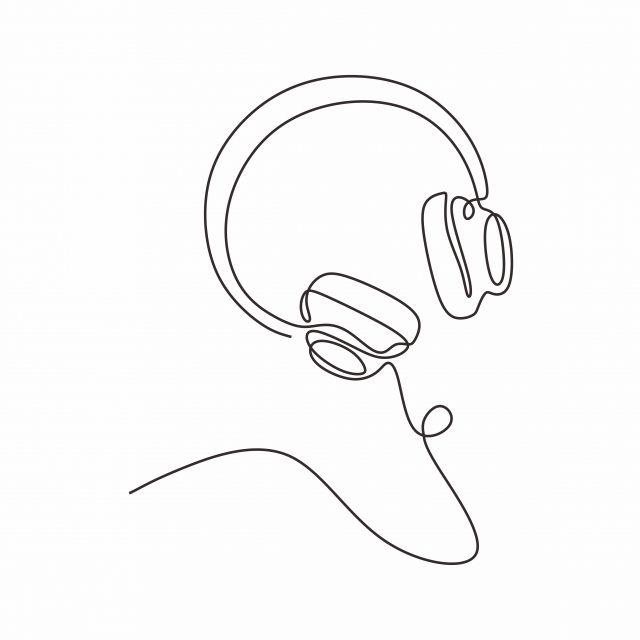 Dibujo Lineal Continuo Auriculares Tema Musical Ilustración Vectorial Diseño Minimalista, Vector, Ilustración, Aislado PNG y Vector para Descargar Gratis | Pngtree