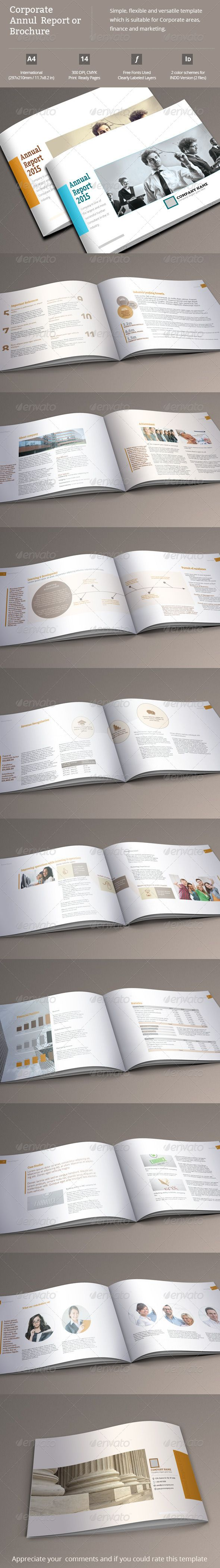 This Is A  Pages Indesign Annual Report Or Marketing Brochure