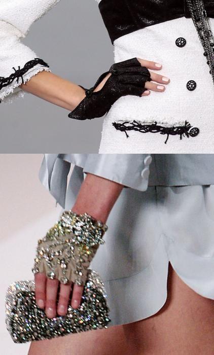 Chanel-love fingerless gloves!!!!!!!!!