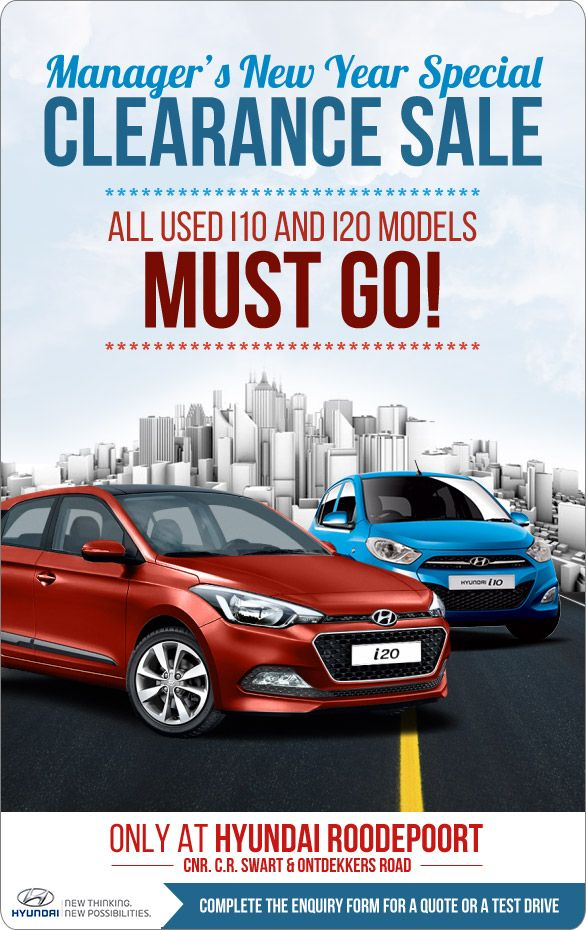 Manager S New Year Hyundai Clearance Sale All Used I10 And I20