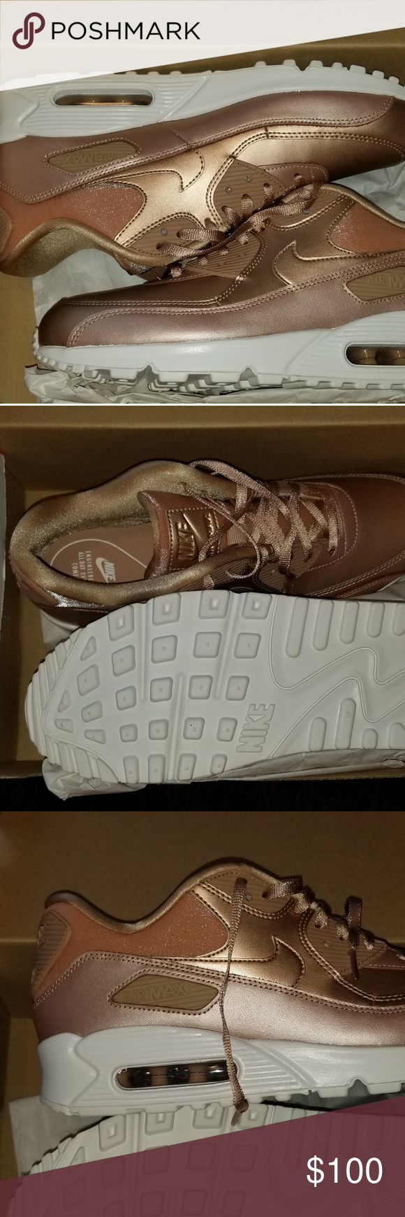 Women Nike Air Max Thea Rose Gold on Poshmark