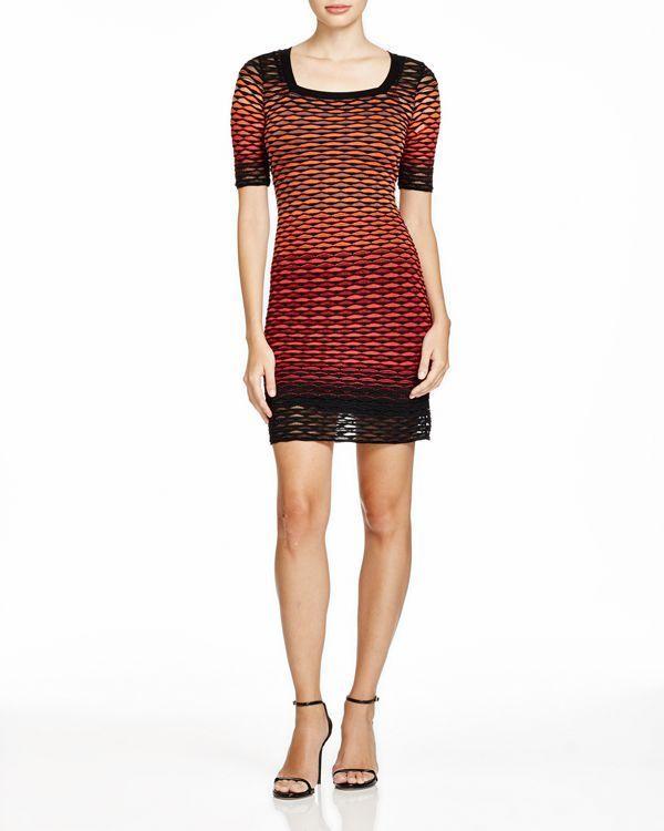 M Missoni Ombre Cutout-Patterned Body-Con Dress