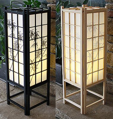 23in Bamboo Traditional Shoji Lamp Lantern Table Lamp Japanese Lamps Lamp