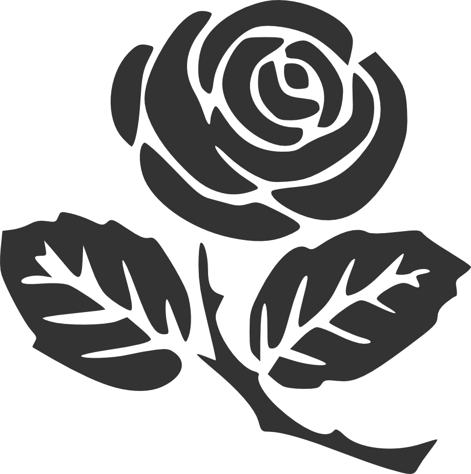Rose Silhouette Rose Clipart Rose Stencil Flower Drawing