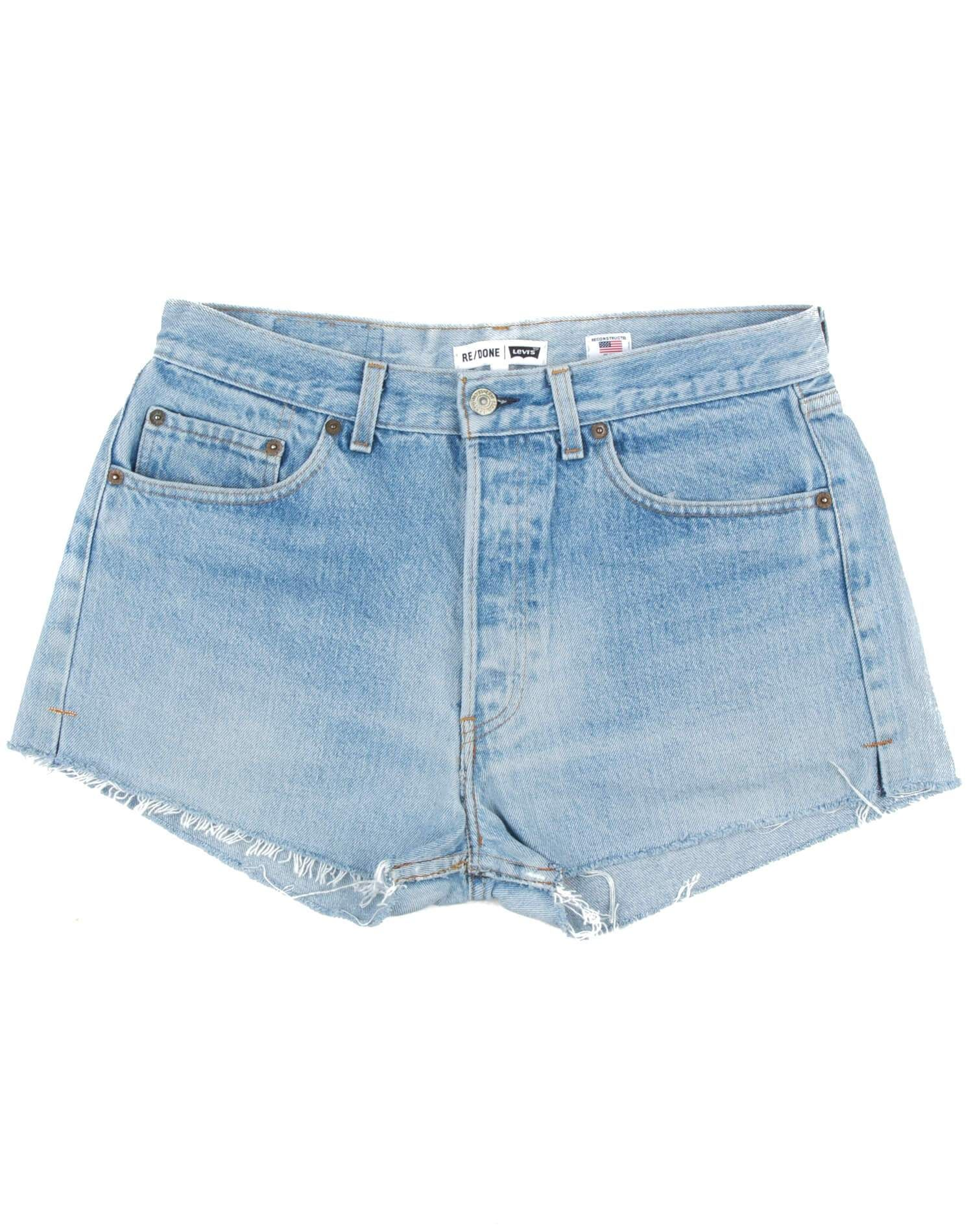 Vintage Levi's | The Shorts | Light Blue | Size 27 | No. 27TS1175379 | Denim #lightblueshorts