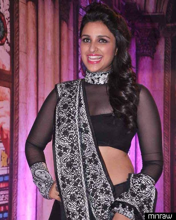 Really stunning and very stylishly Pariniti Chopra in manish malhotra's lehenga choli