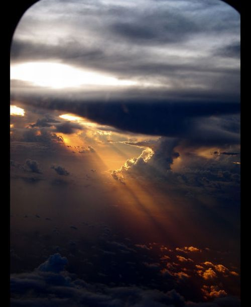 Beautiful View From Window | Beautiful View Out of an Airplane Window
