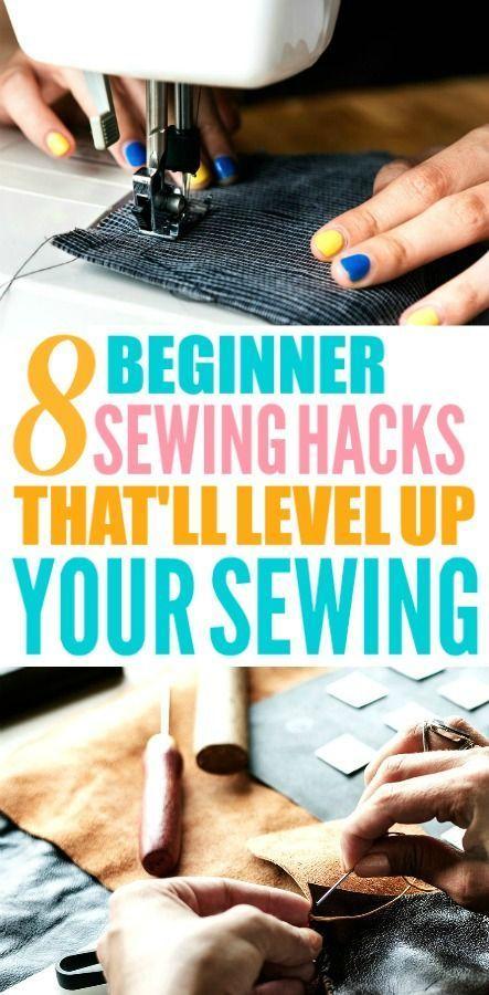 8 Sewing Hacks, die jeder Anfänger wissen muss #sewingbeginner