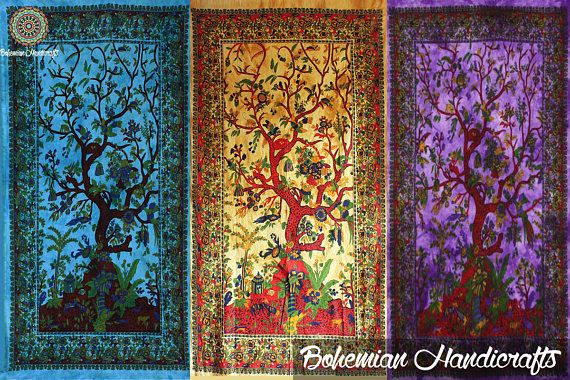 Dorm Wall Hanging Tapestries Tree of Life Wall Art Bed Sheets