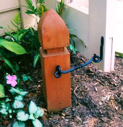 DIY Gate / Door Stop : A great way to hold the gate or shed door ...