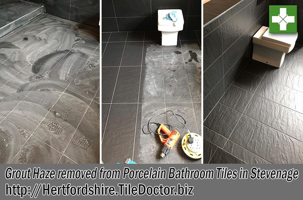 A Builder In Stevenage Contacted Us About Cleaning Up Grout Haze