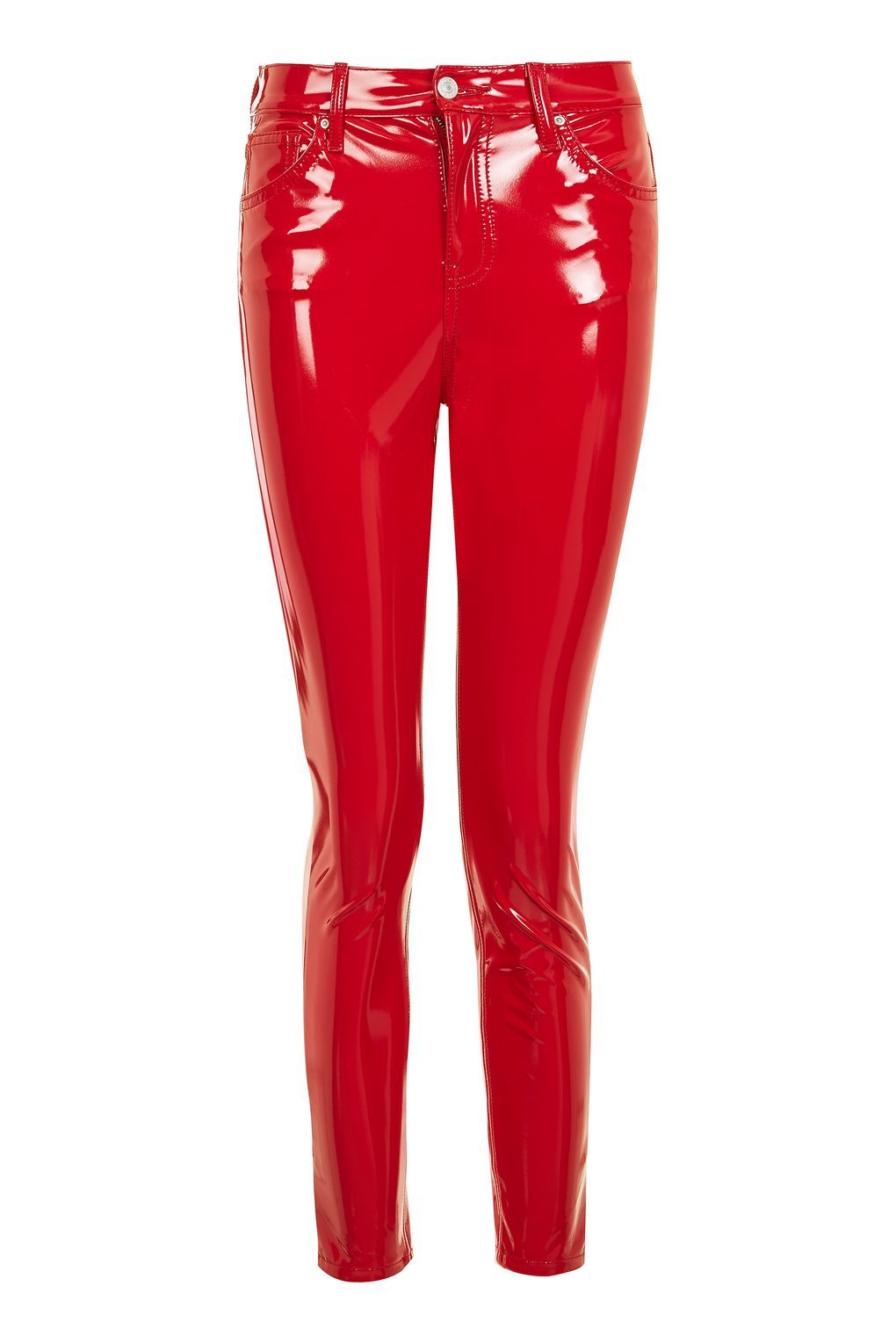 a97fcdec MOTO Red Vinyl Jamie Jeans in 2019 | Clothes | Red skinny jeans ...