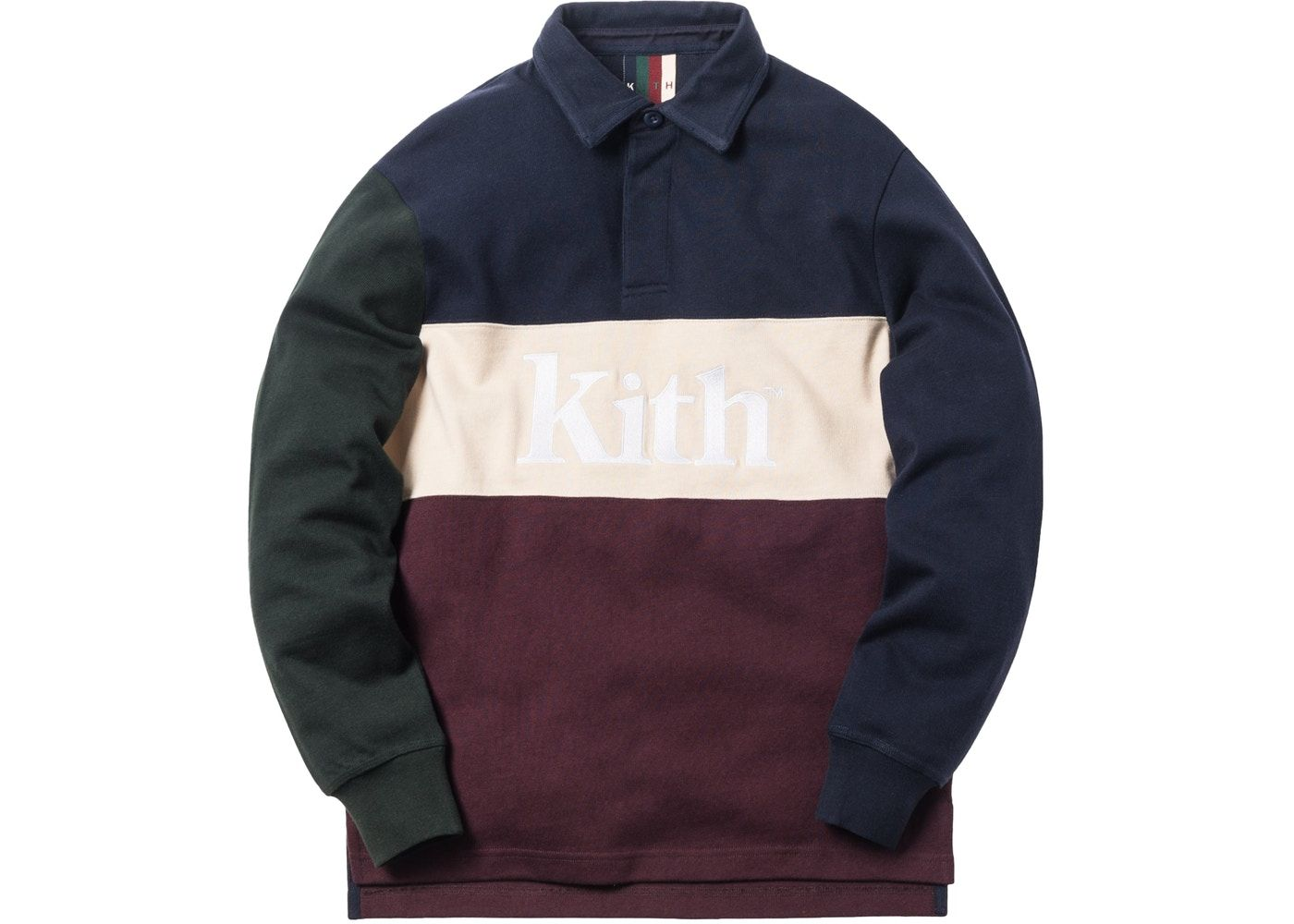 f3f185af Kith Color Blocked Rugby Navy/Burgundy/Green in 2019 | Inspo for DNA ...