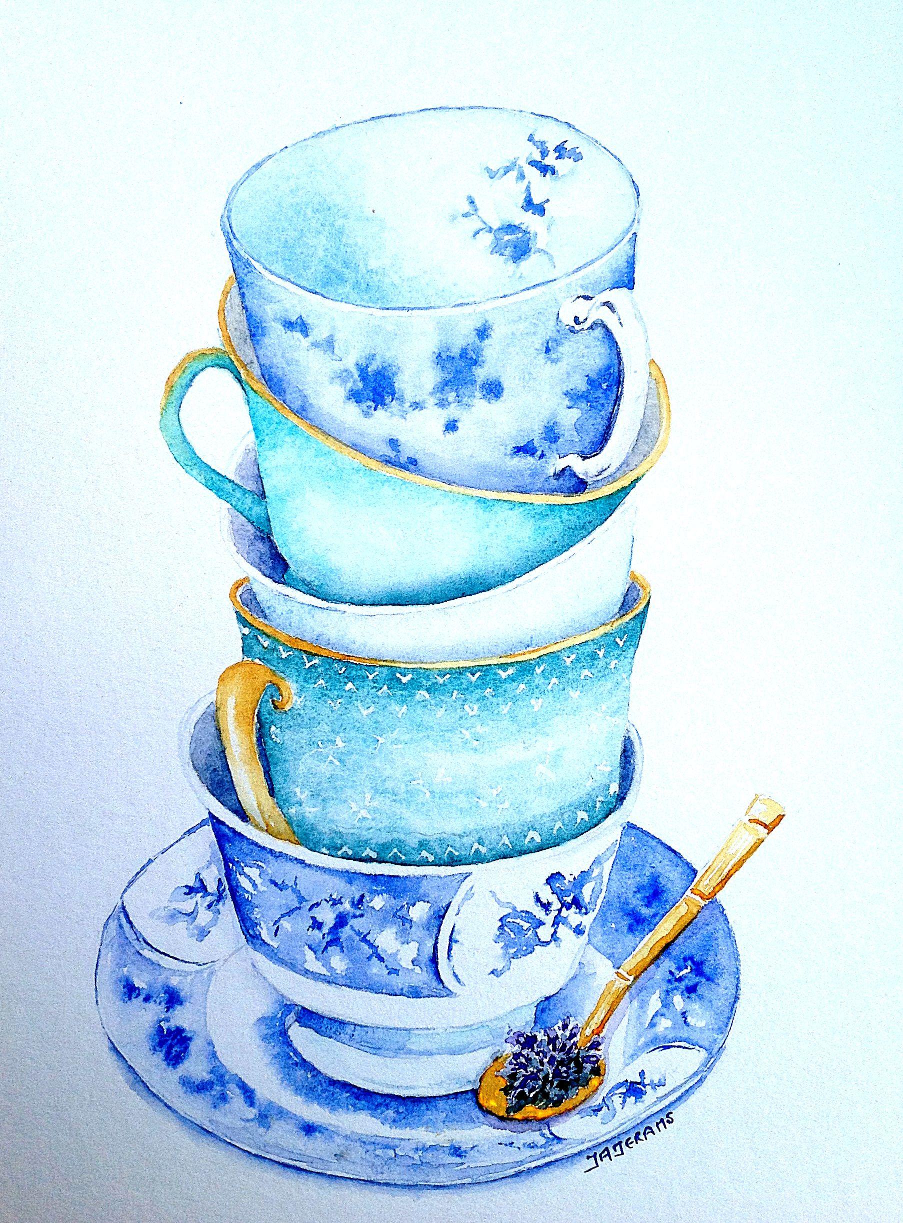 Teacups by Judith Jerams