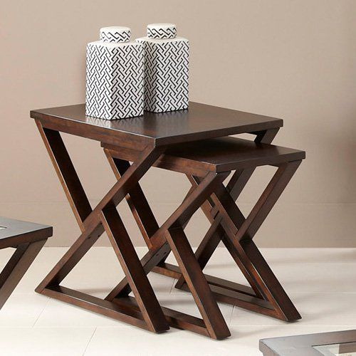 Madison Rectangular Coffee Bean Nesting End Table   $256 @hayneedle