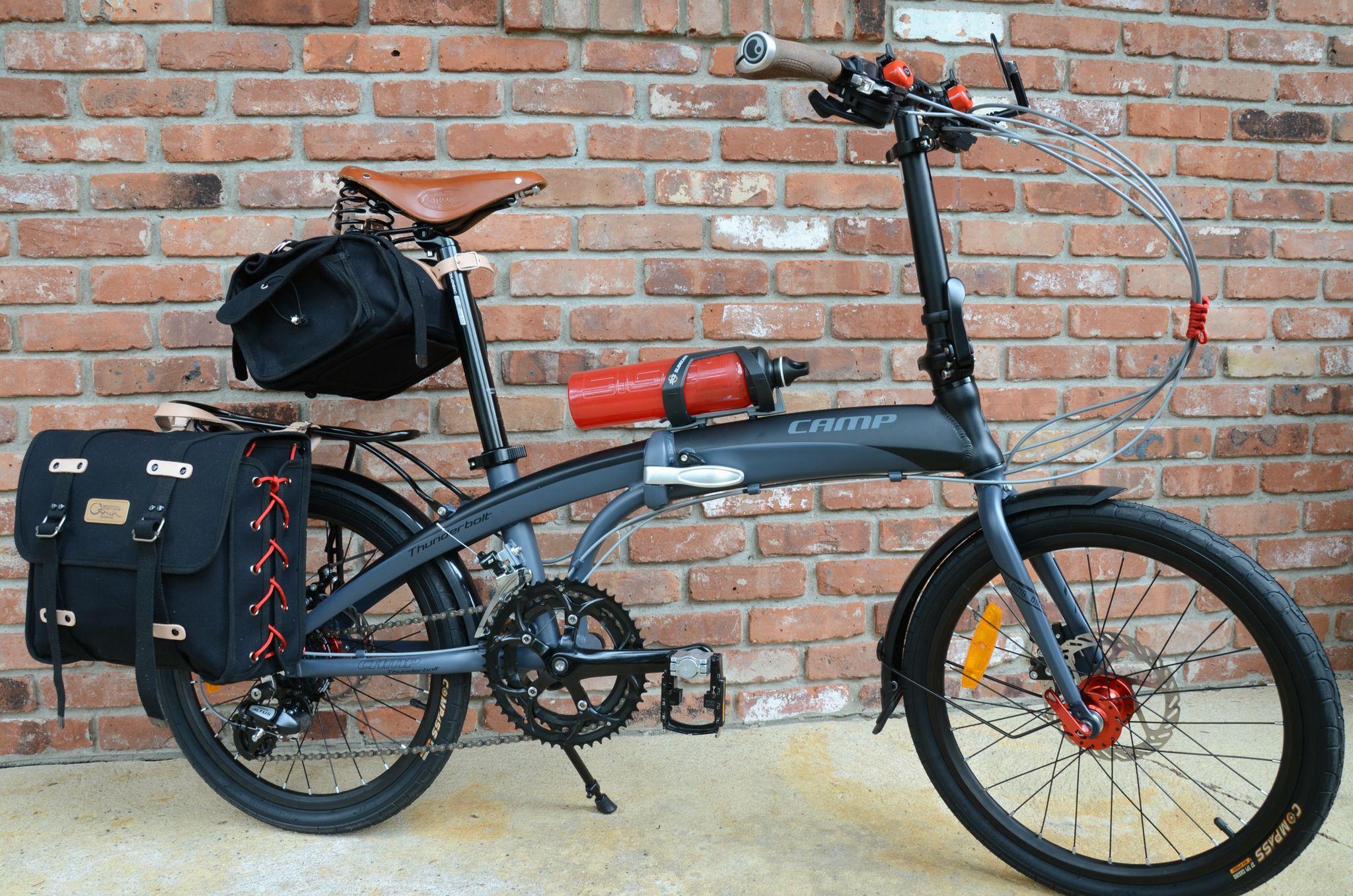 Camp Thunderbolt Folding Bike Ostrich Pannier Bag And