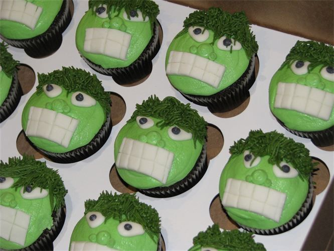 Hulk cupcakes these cupcakes are decorated with a smooth hulk cupcakes these cupcakes are decorated with a smooth buttercream icing and marshmallow eyes and pronofoot35fo Choice Image