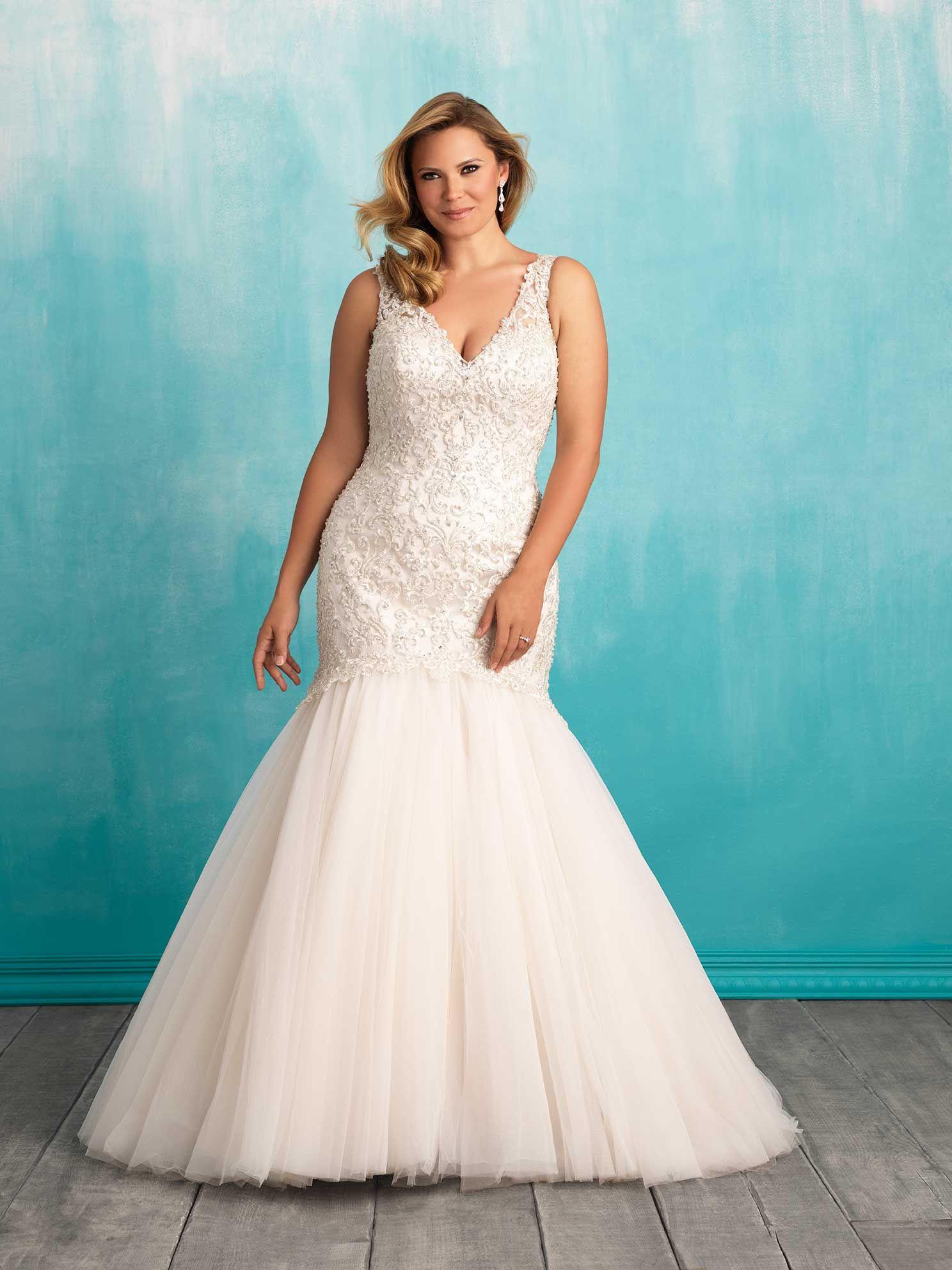 Allure wedding dress  Allure Bridals Style W  Beautiful Plus Size Gowns  Pinterest