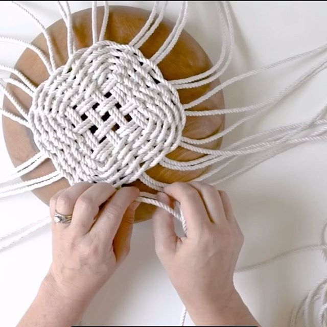 Hand Woven Basket Tutorial for Easter - Flax & Twine