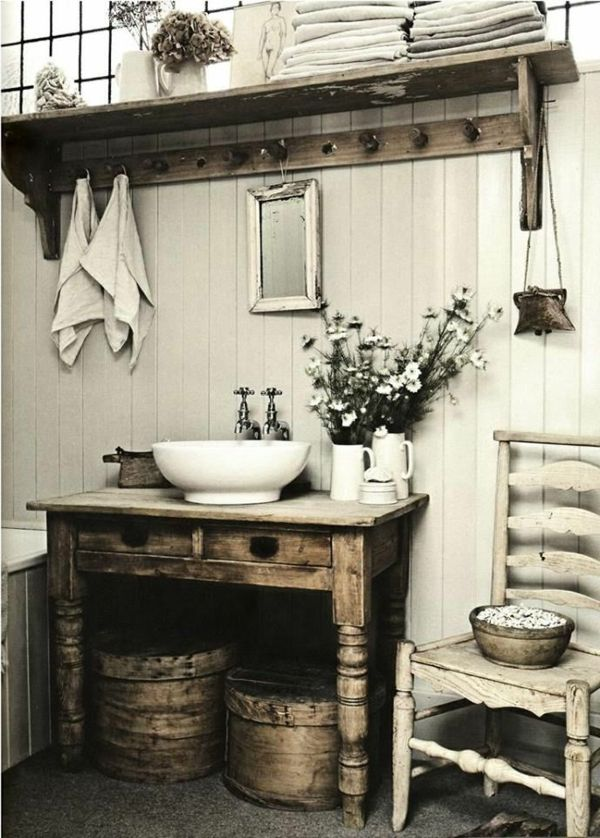 die besten 25 badezimmer shabby ideen auf pinterest. Black Bedroom Furniture Sets. Home Design Ideas