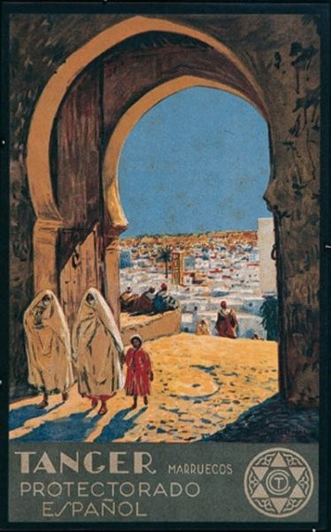 Tanger protectorado español | #Travel #Poster @deFharo
