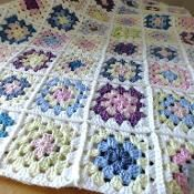 Spring Granny Crochet Throw - via @Craftsy