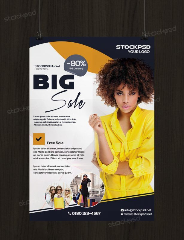 Big Sale - PSD Free Flyer Template    stockpsdnet big-sale - for rent flyer template