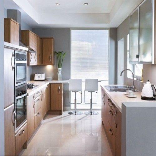 Cocina peque a larga y estrecha kitchens cocinas - Cocinas largas y estrechas ...