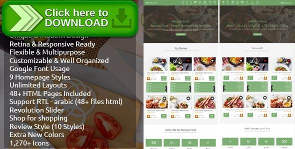 Free nulled recipes food food recipes html template download forumfinder Choice Image