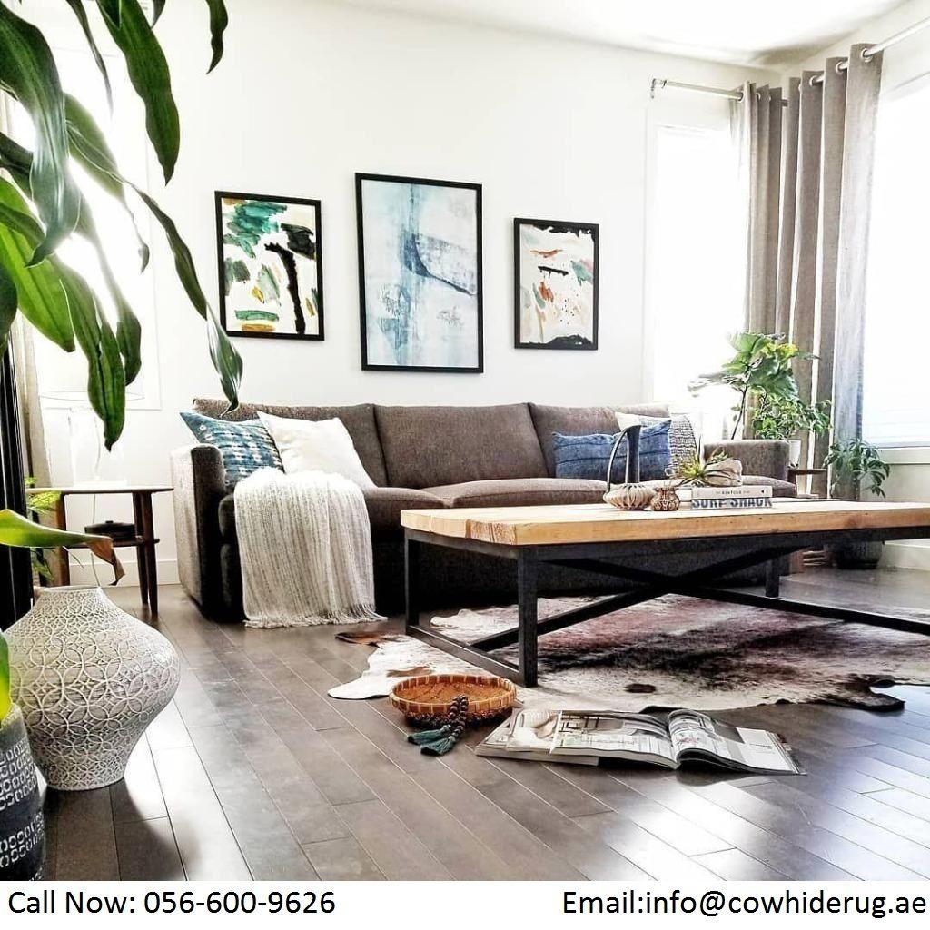 Brazilian Cowhide Rugs Dubai Buy Best Brazilian Cowhide Rugs Online In Dubai In 2020 Hide Rug Living Room Home Living Room Rugs In Living Room
