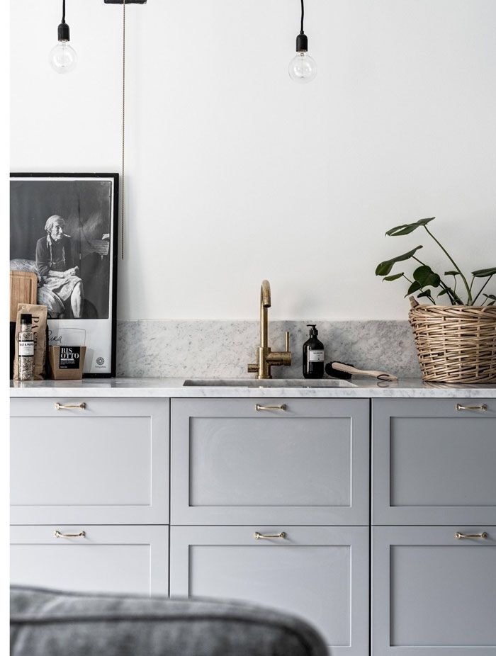 Modern Classic Kitchen Cabinets grey panel door kitchen / modern classic interior design | kitchen