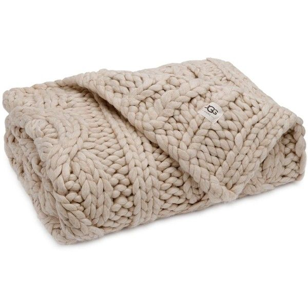 Ugg Throw Blanket Endearing Ugg Oversized Knit Throws $345 ❤ Liked On Polyvore Featuring Home Design Decoration