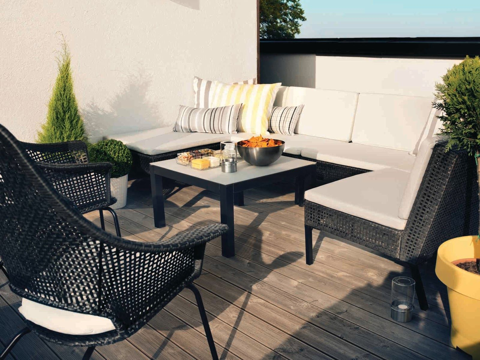 Balcony furniture ikea - Ikea Ammero For Deck Off Dining Room