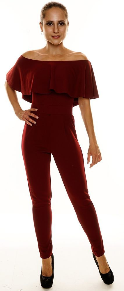best website 9f938 55c89 JUMPSUIT WEINROT OVERALL ANZUG HOSE BLUSE CARMEN PARTY DAMEN ...
